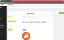 Cài đặt tổng quan website tại ZLand