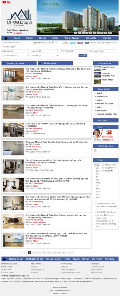 Giao diện website Bất động sản Z - 239