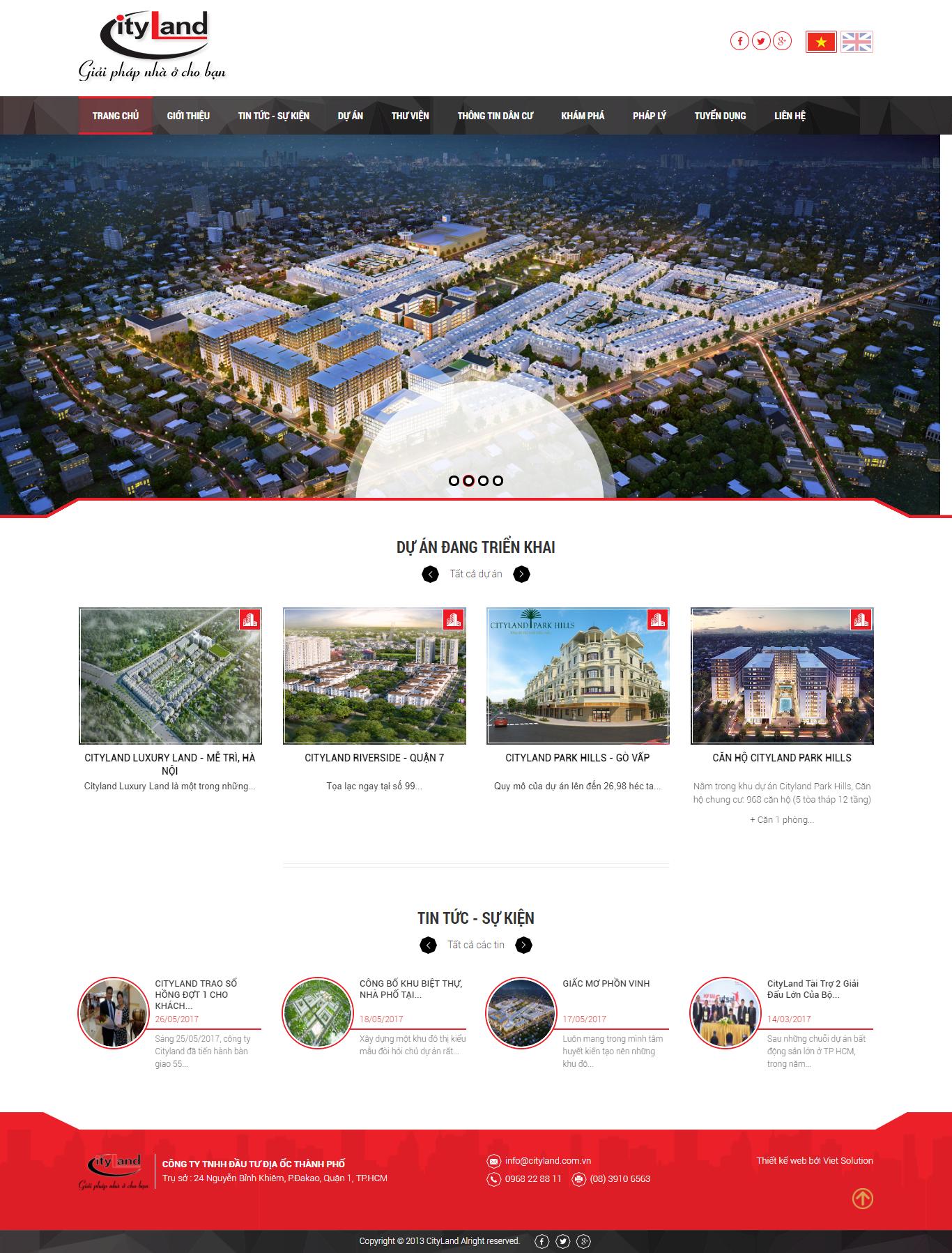 Giao diện website Bất động sản Z - 224
