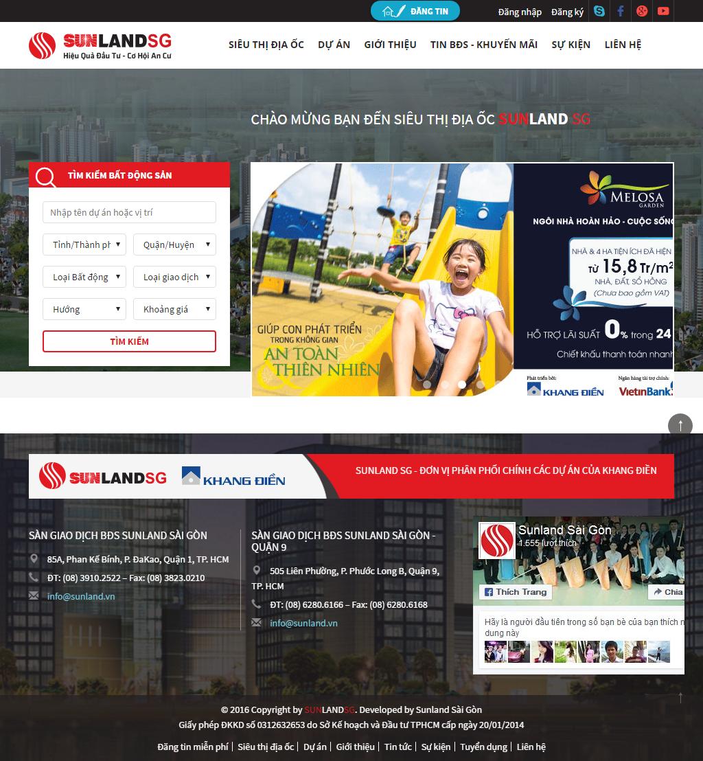 Giao diện website Bất động sản Z - 258