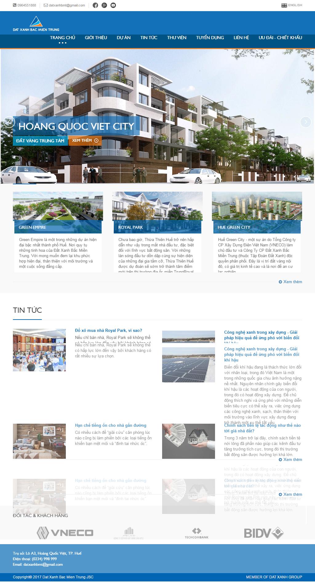 Giao diện website Bất động sản Z - 263