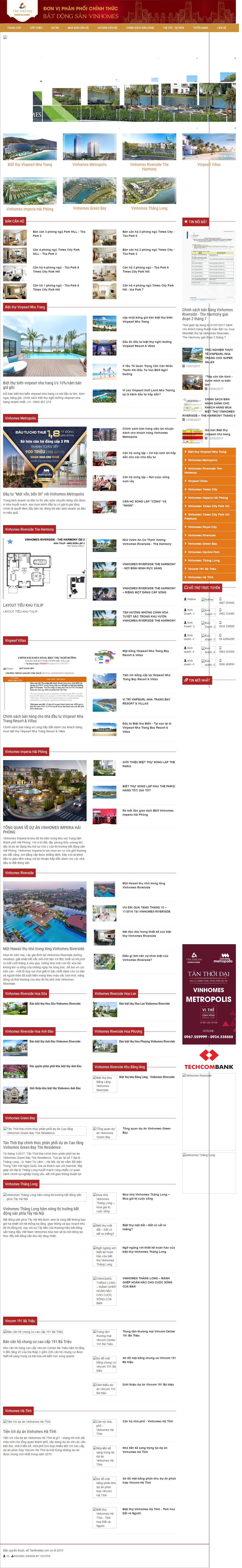 Giao diện website Bất động sản Z - 269