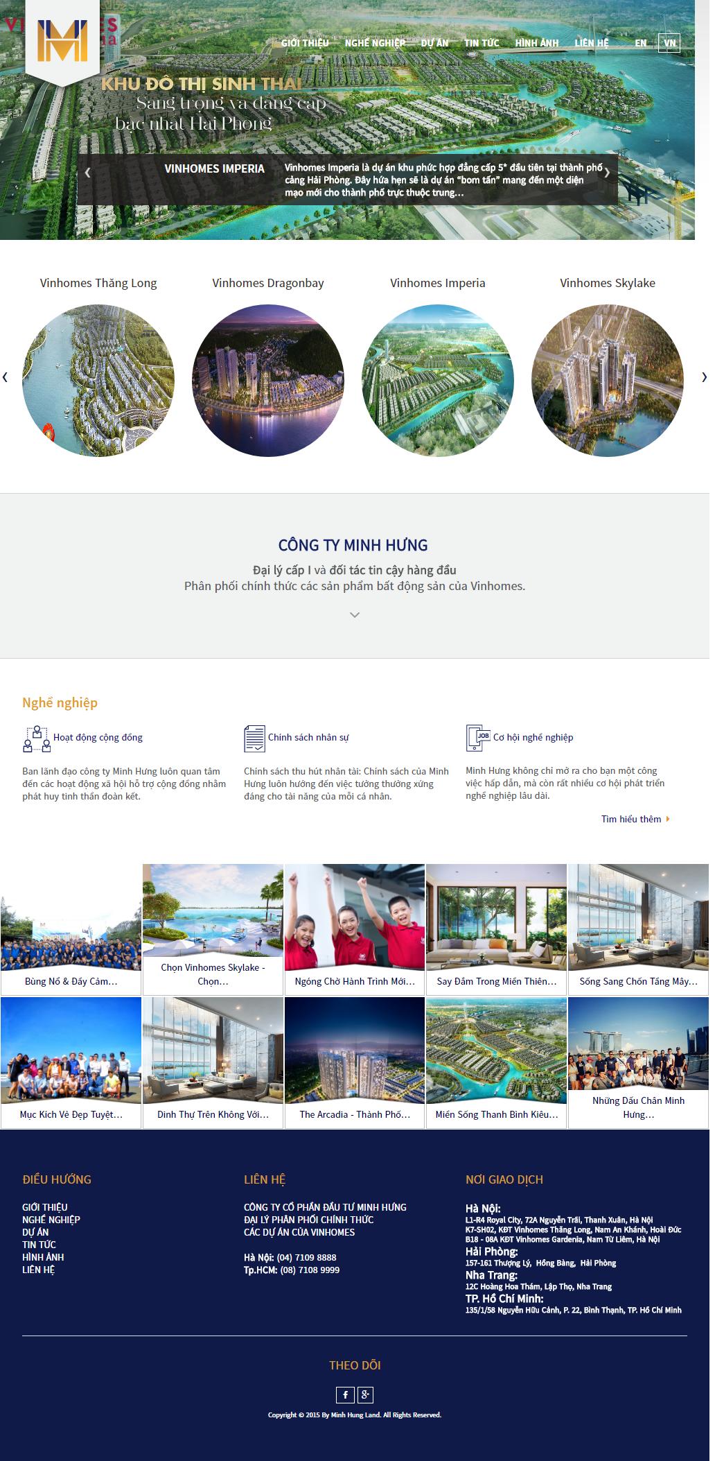 Giao diện website Bất động sản Z - 272
