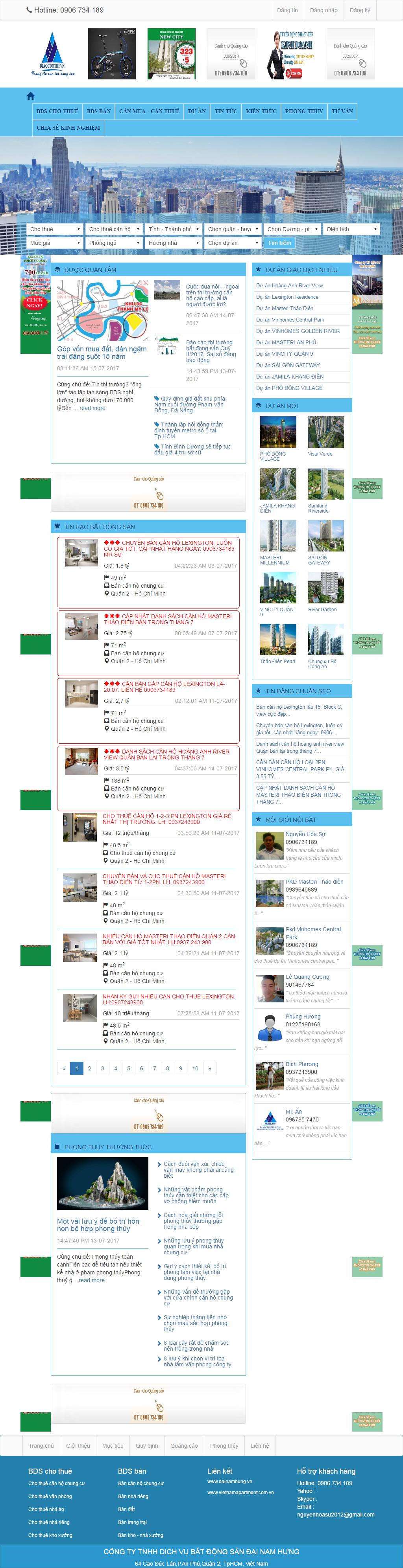 Giao diện website Bất động sản Z - 283