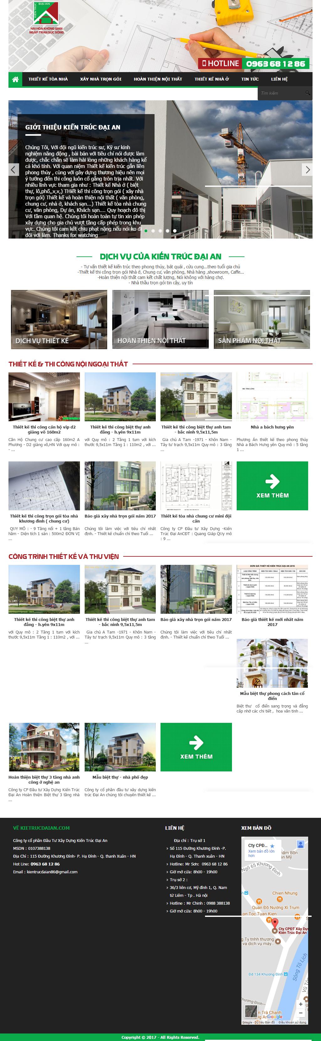 Giao diện website Bán hàng Z - 289