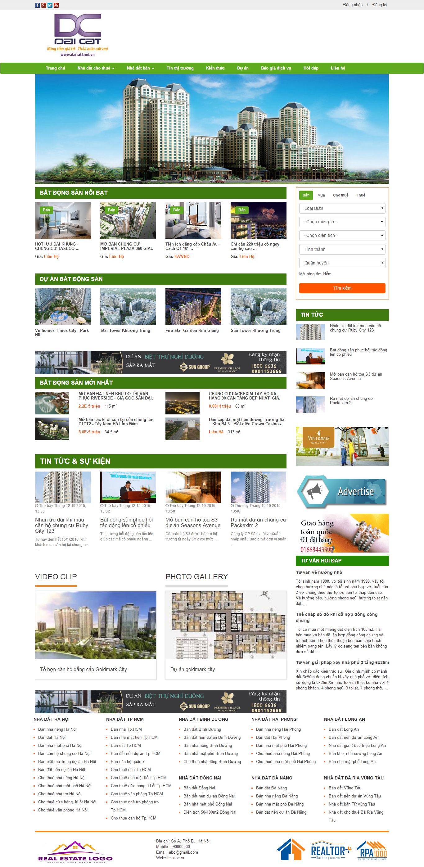 Giao diện website Bất động sản Z - 64