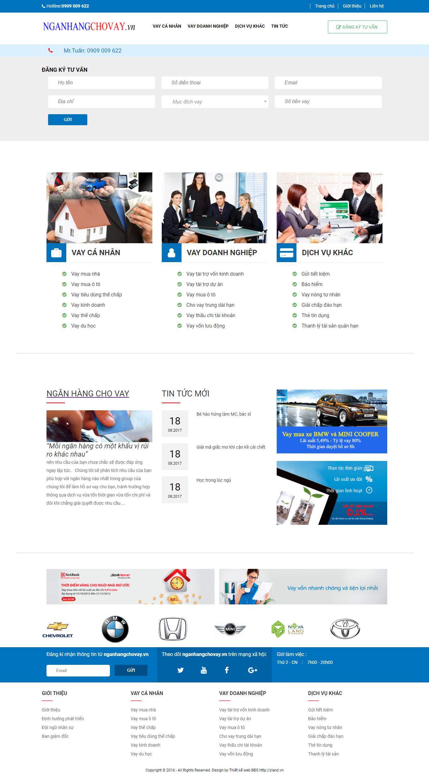 Giao diện website Bất động sản Z - 314