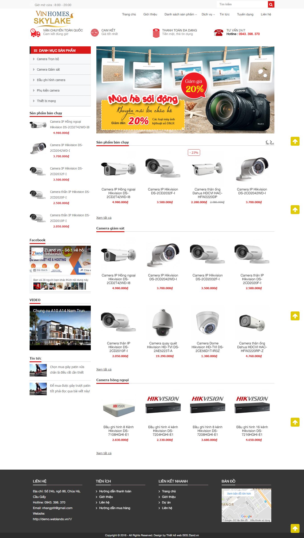 Giao diện website Bán hàng Z - 286