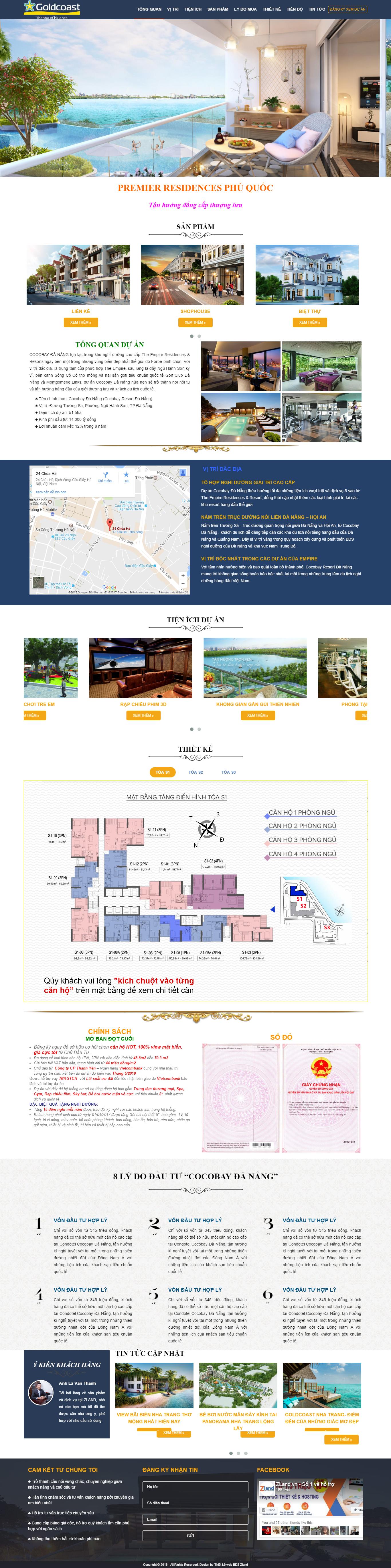 Giao diện website Bất động sản Z - 168