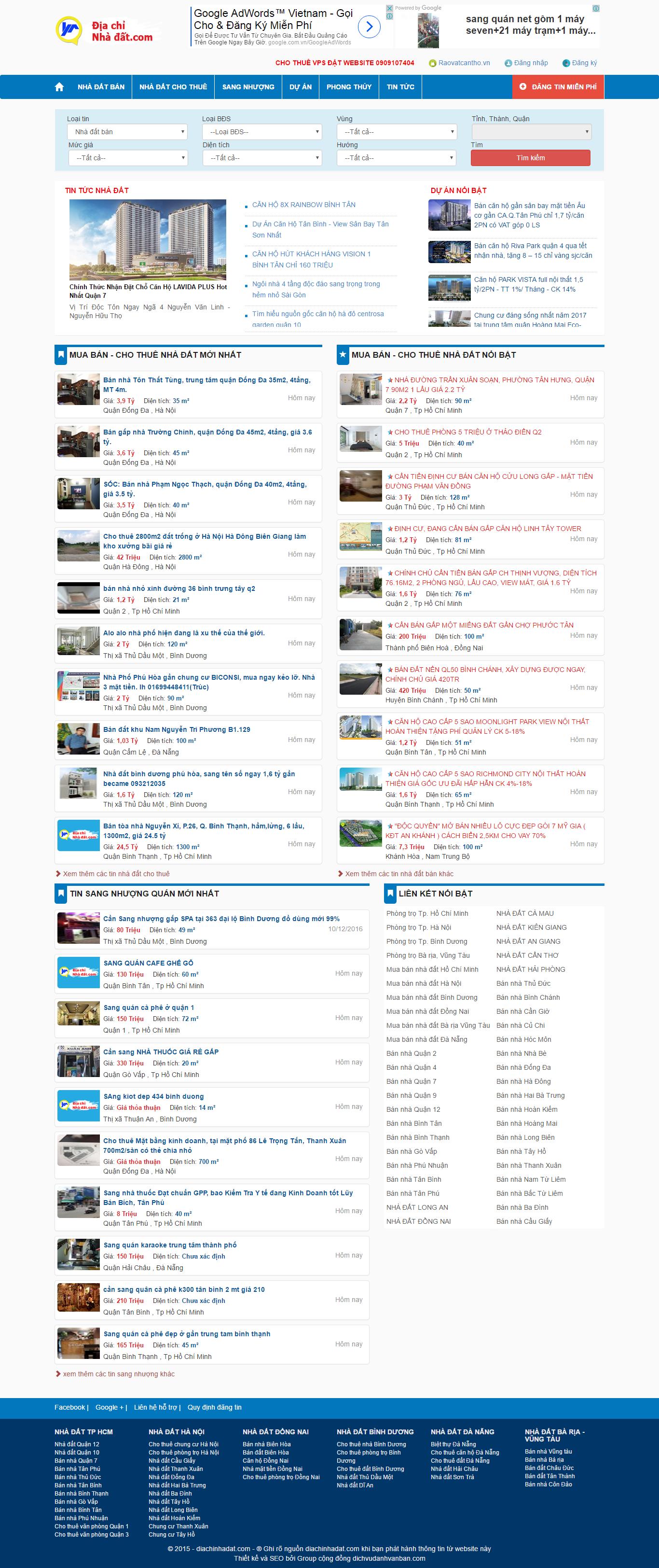 Giao diện website Bất động sản Z - 184