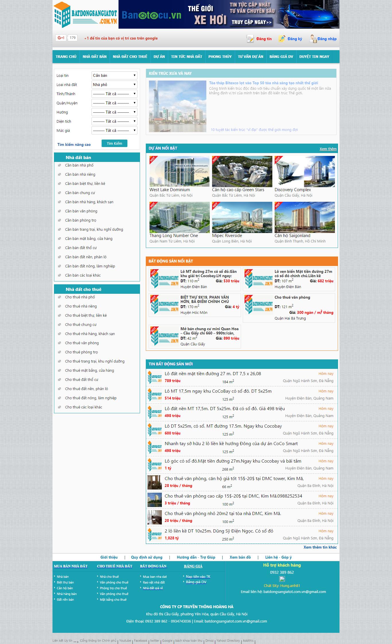 Giao diện website Bất động sản Z - 185