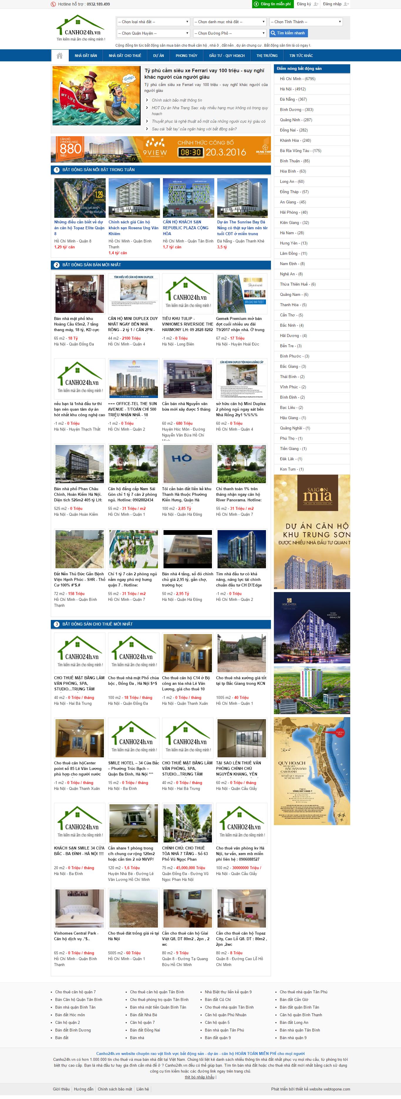 Giao diện website Bất động sản Z - 186