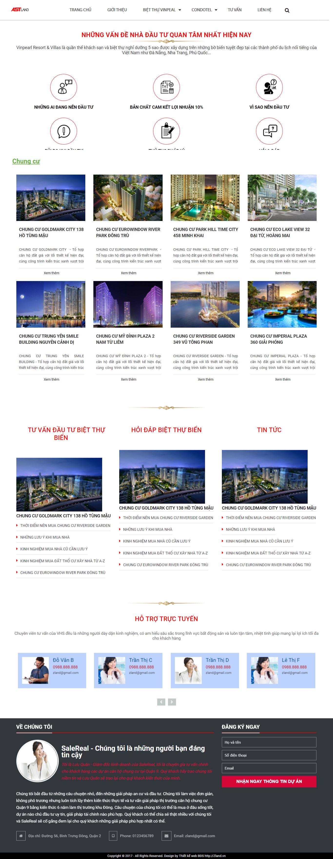 Giao diện website Bất động sản Z - 325
