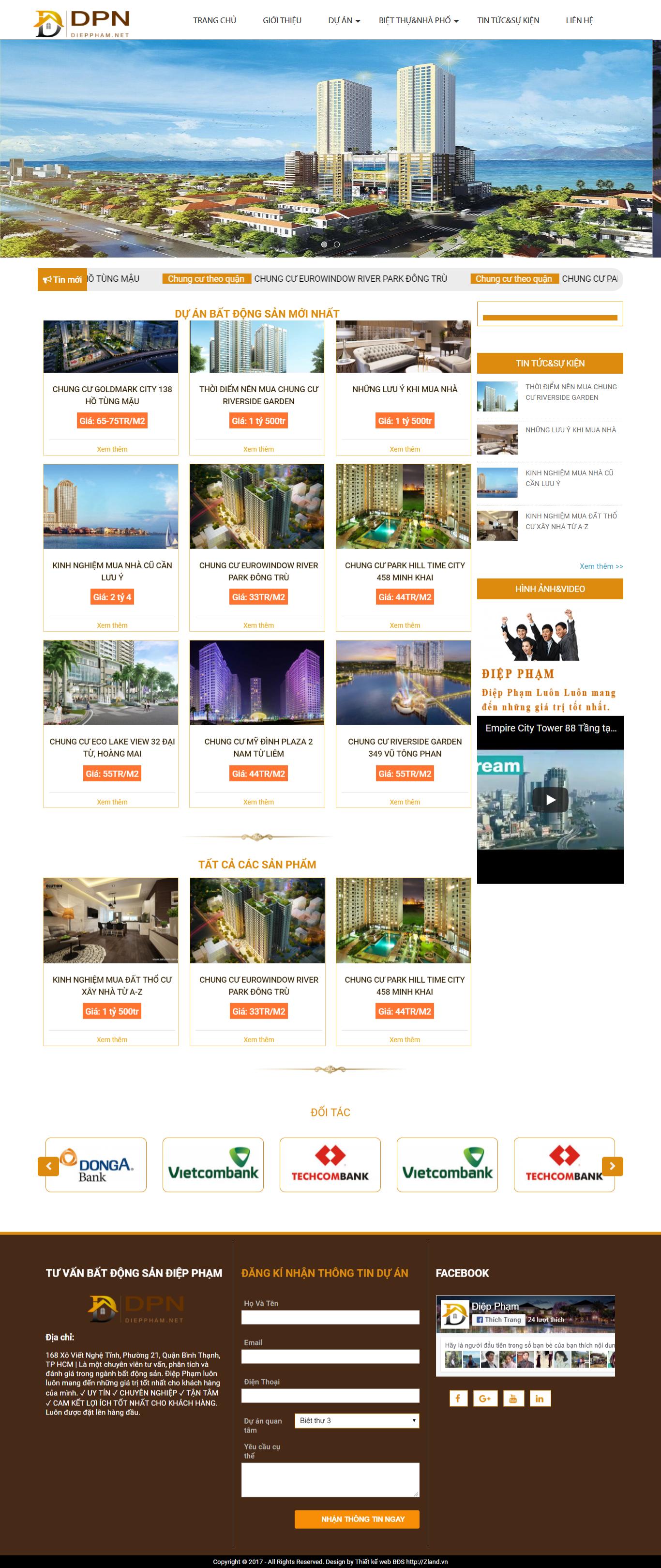 Giao diện website Bất động sản Z - 326