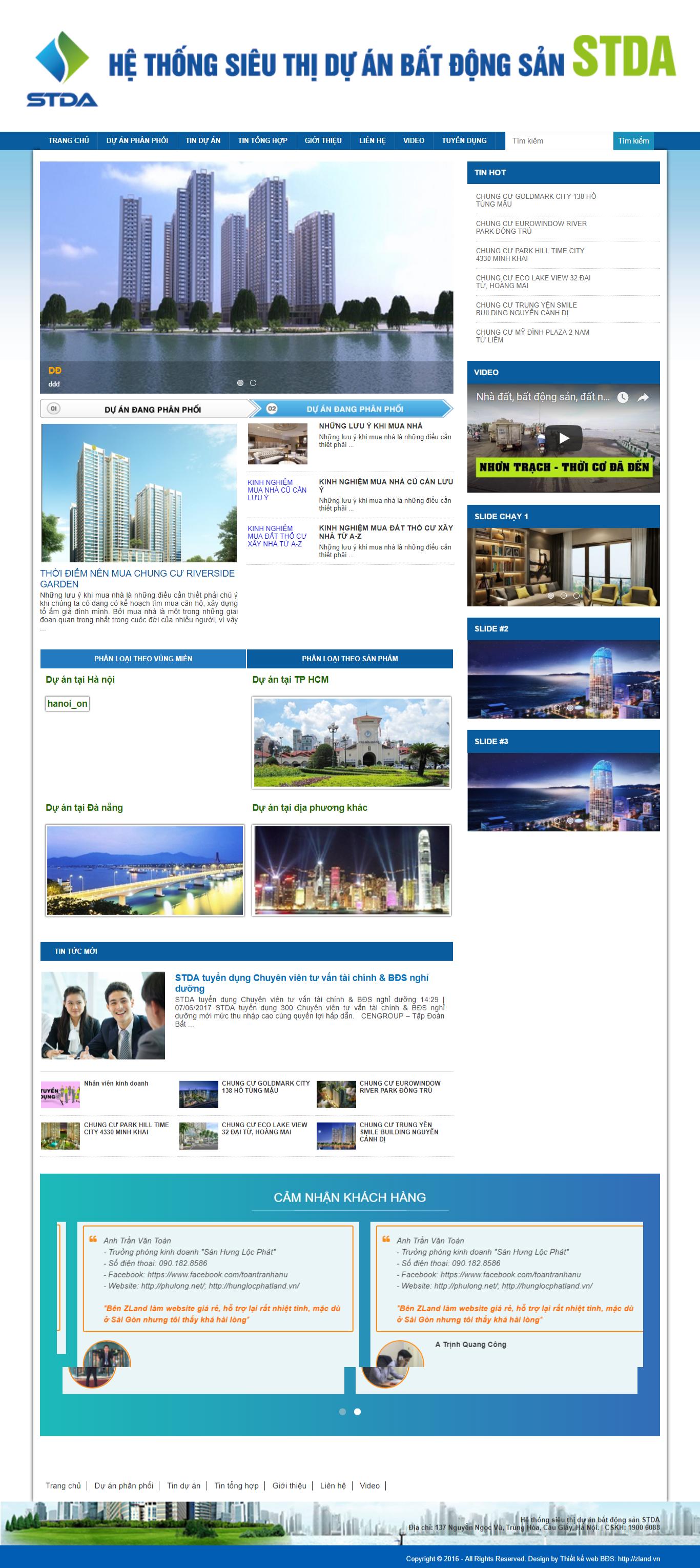 Giao diện website Bất động sản Z - 330