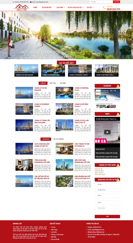Giao diện website Bất động sản Z - 337