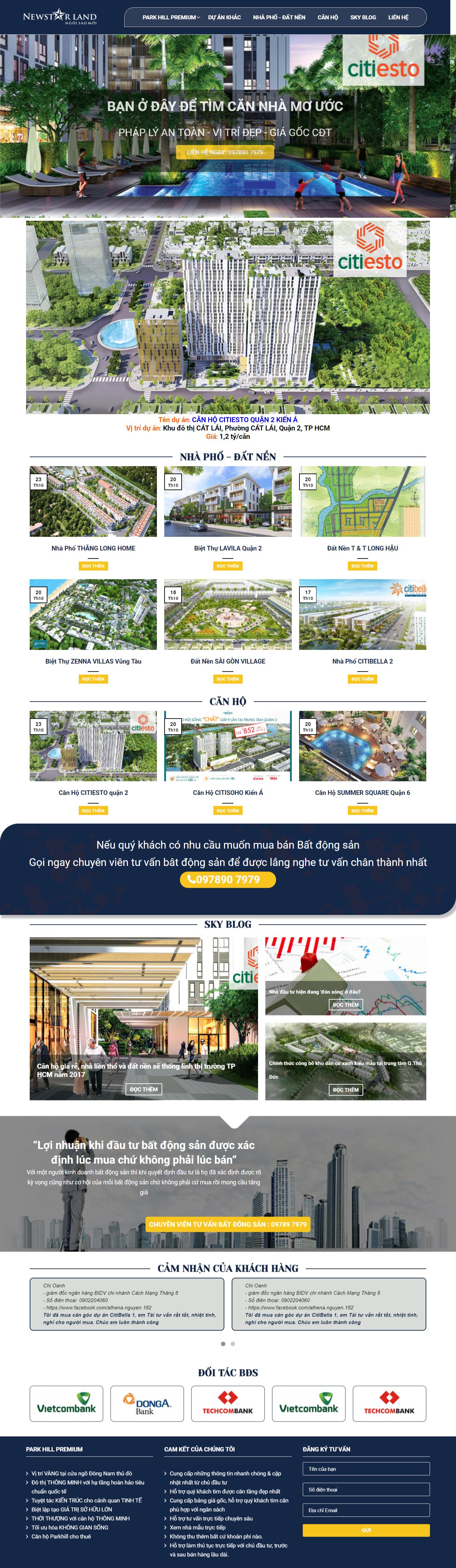 Giao diện website Bất động sản Z - 339