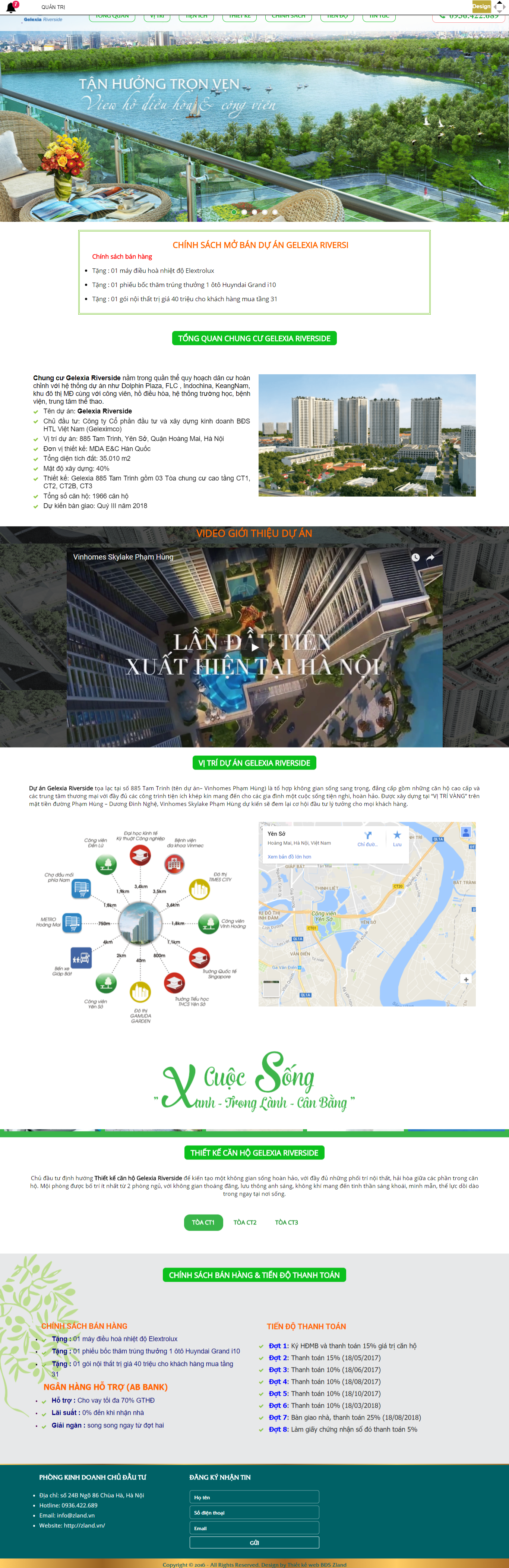 Giao diện website Bất động sản Z - 3