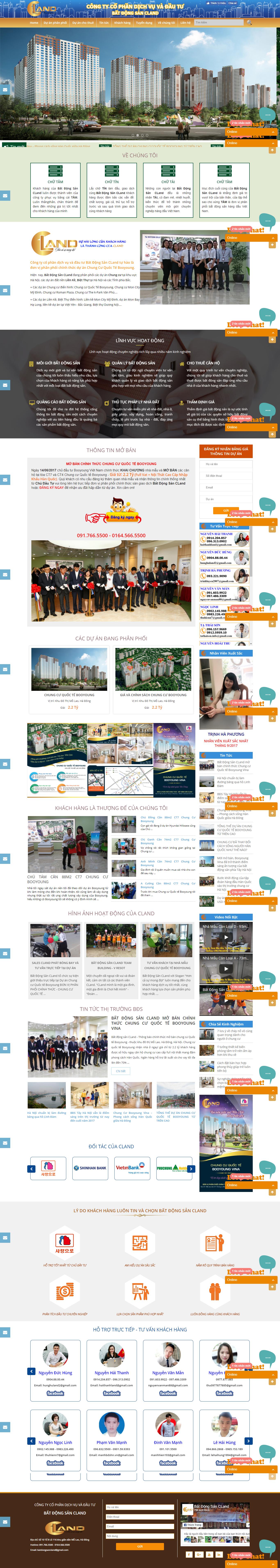 Giao diện website Bất động sản Z - 312