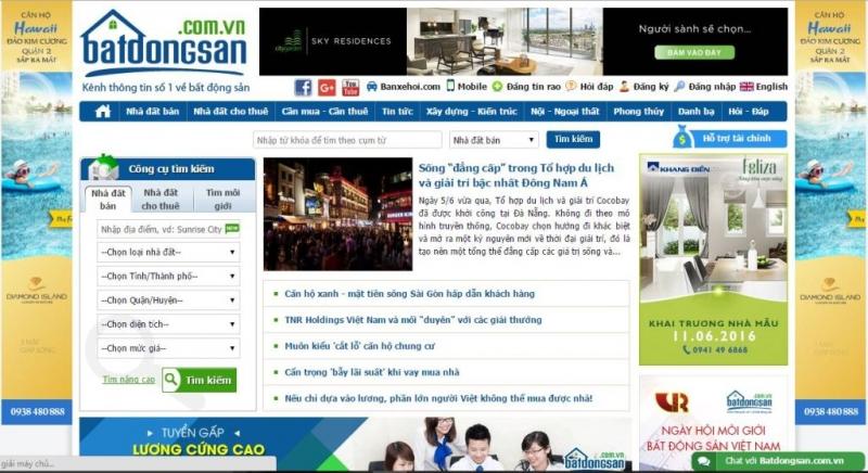 ng tin rao vặt trên website bât động sản