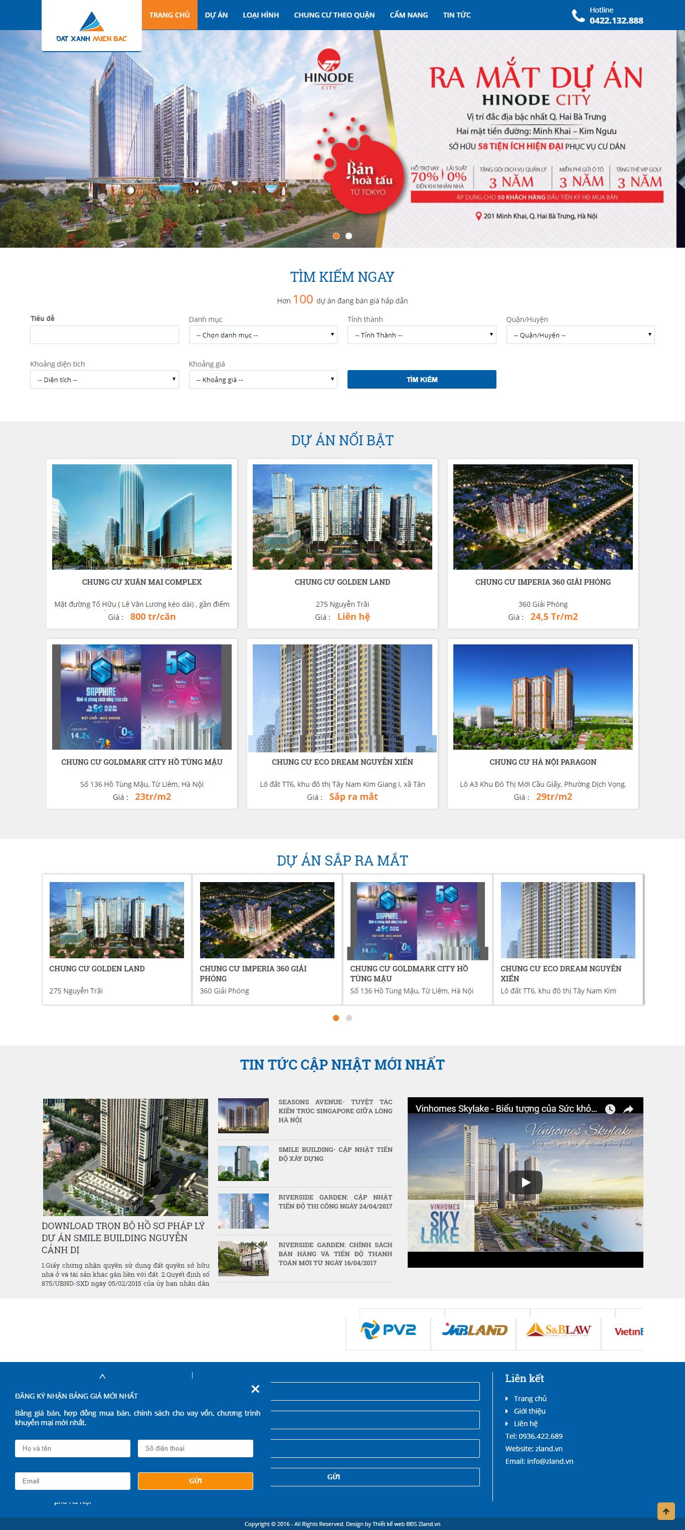Giao diện website Bất động sản Z - 123