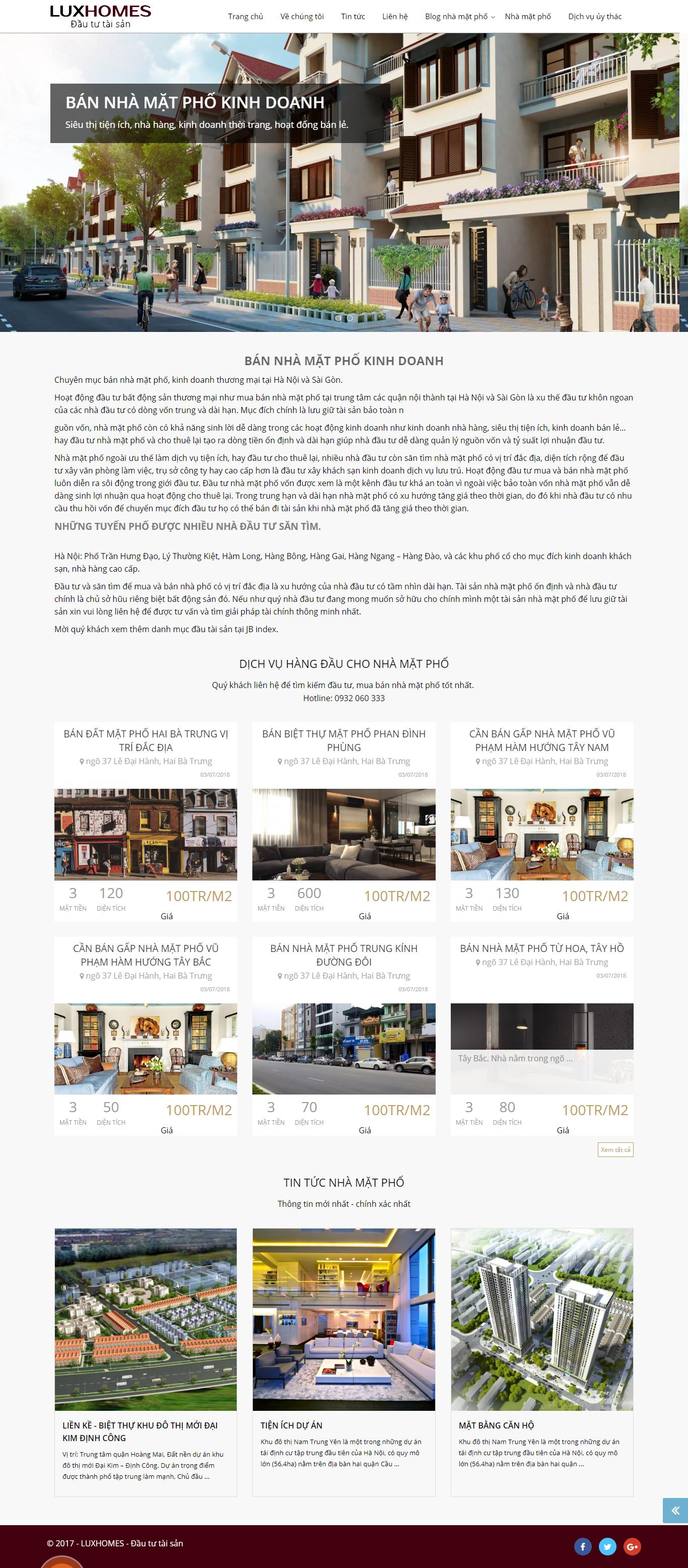 Giao diện website BĐS z410