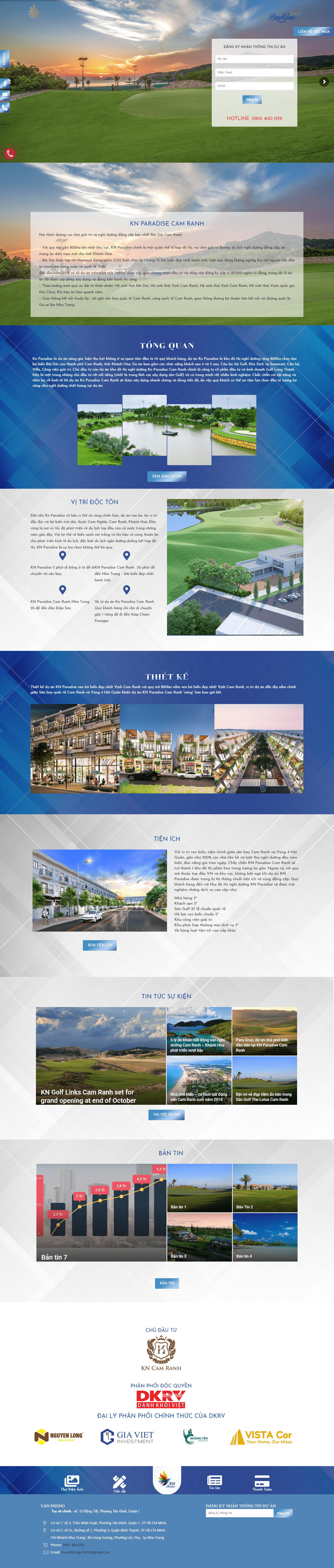 Giao diện website BĐS z457
