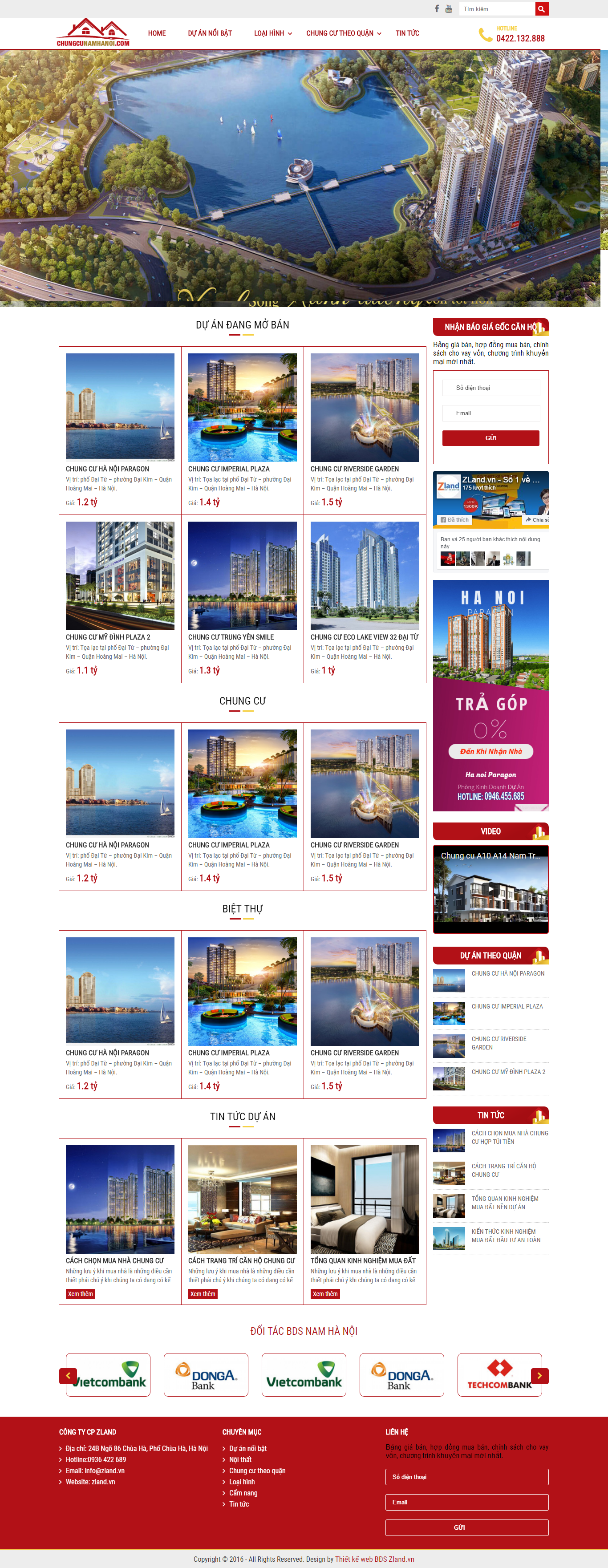 Giao diện website Bất động sản Z - 128