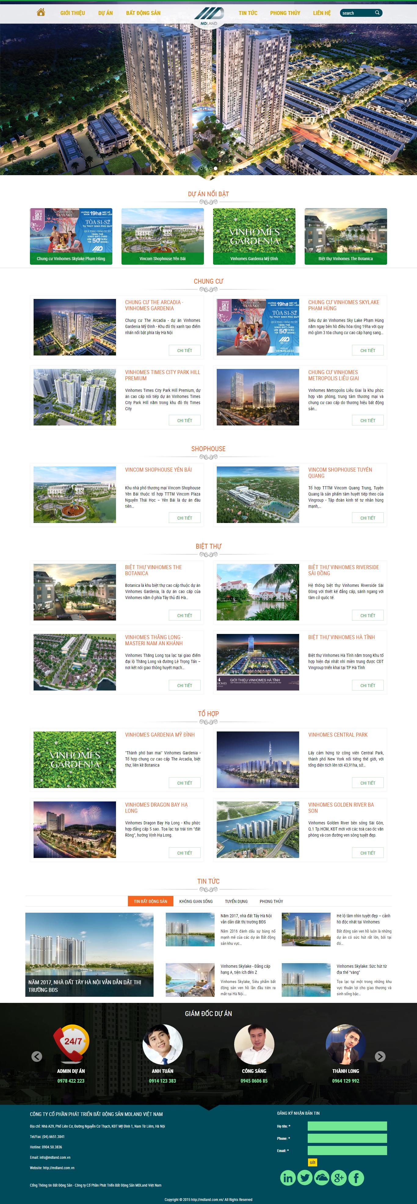 Giao diện website Bất động sản Z - 95