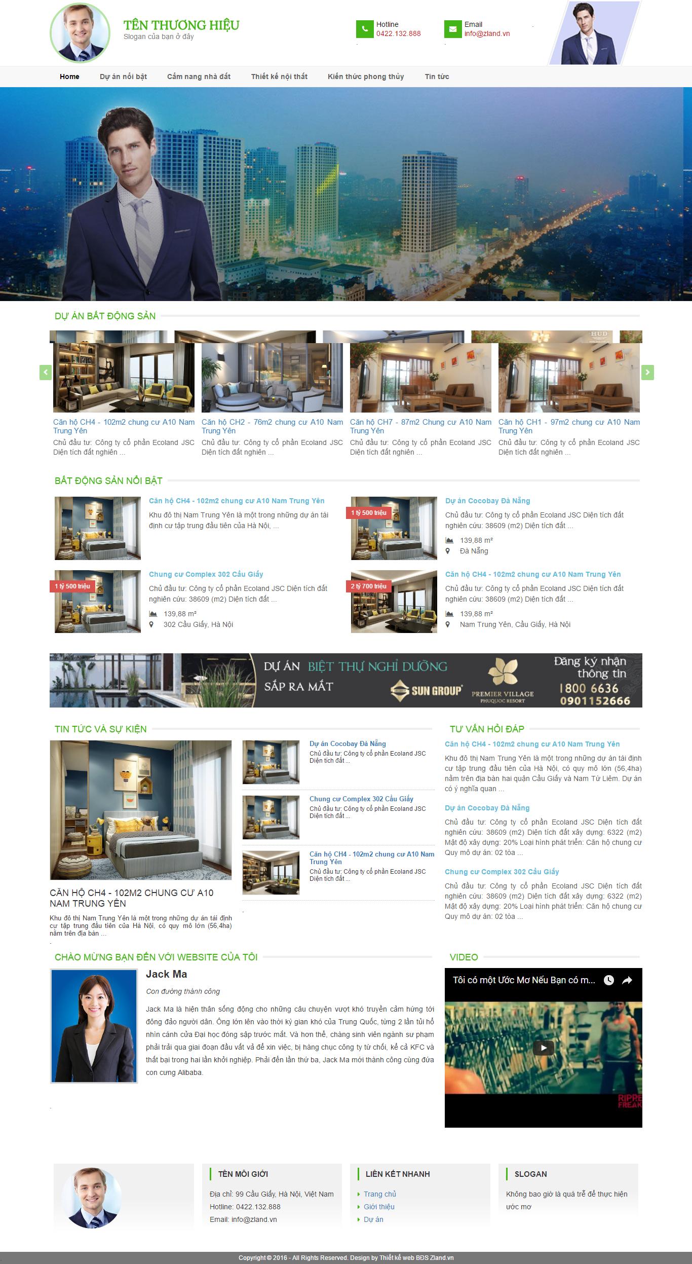Giao diện website Bất động sản Z - 61