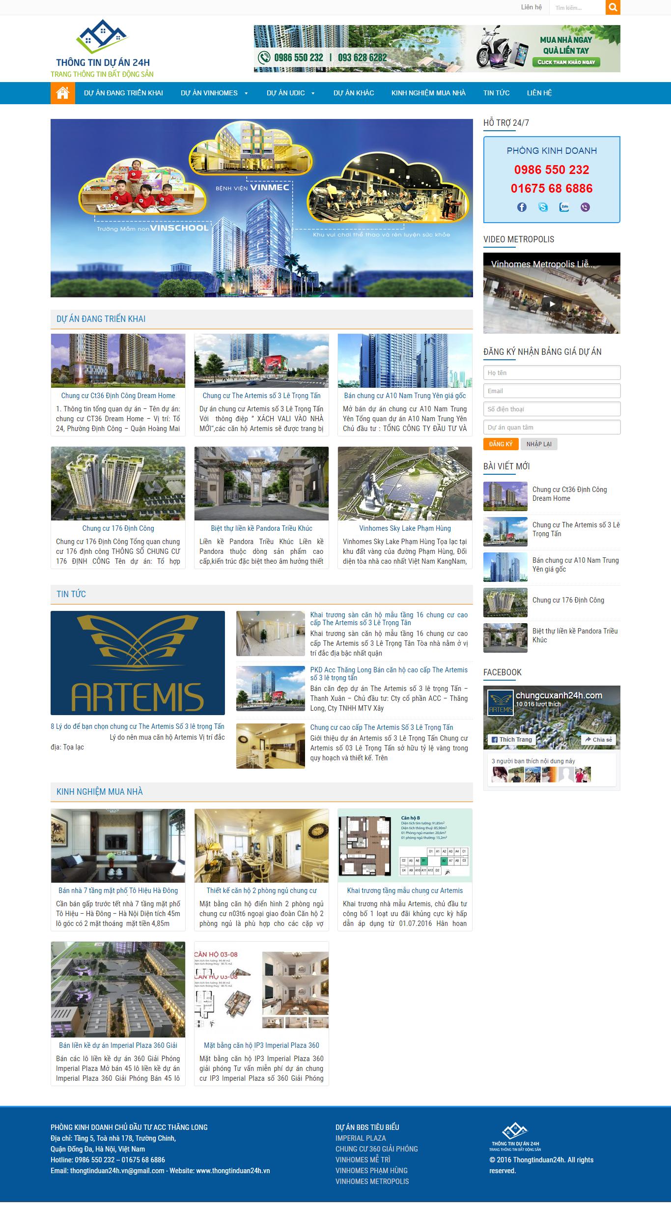 Giao diện website Bất động sản Z - 114