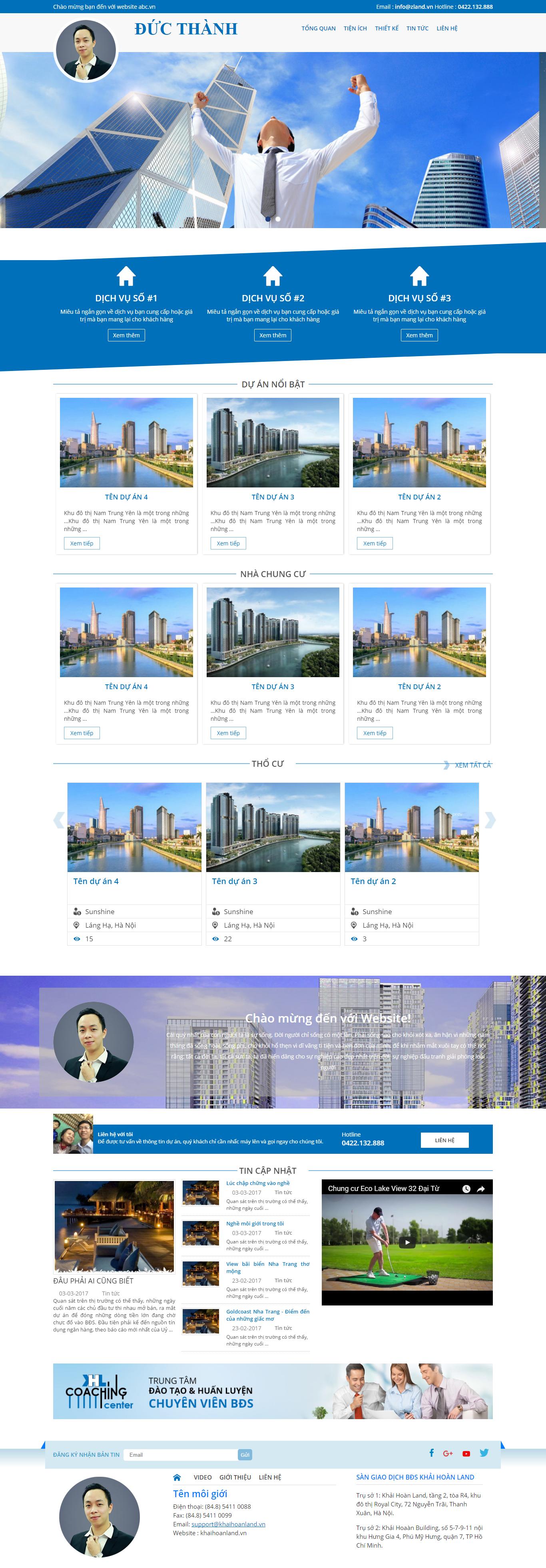 Giao diện website Bất động sản Z - 66