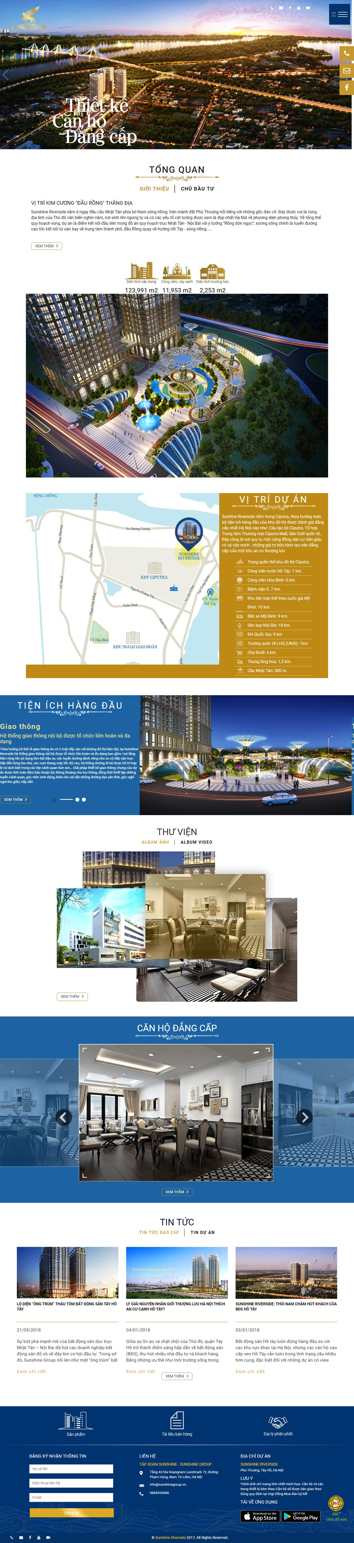 Giao diện website BĐS z417