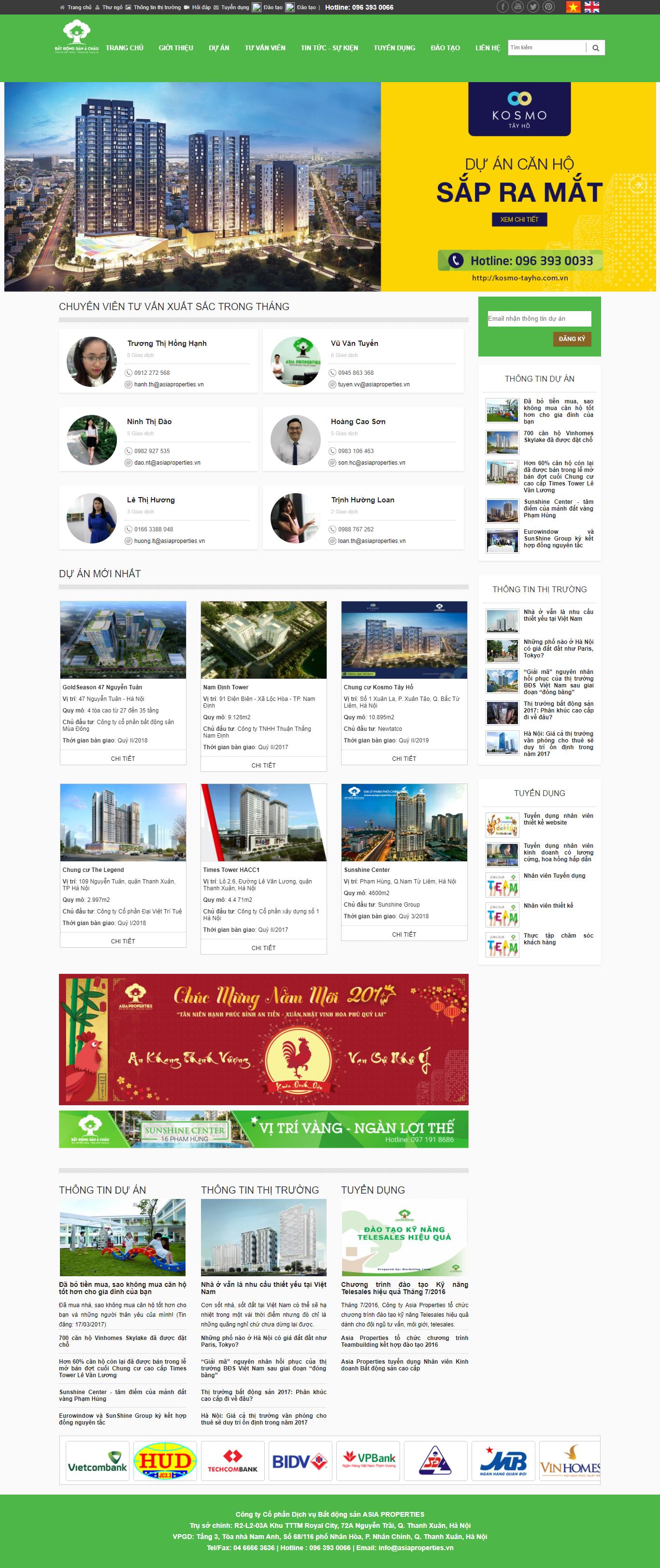 Giao diện website Bất động sản Z - 310