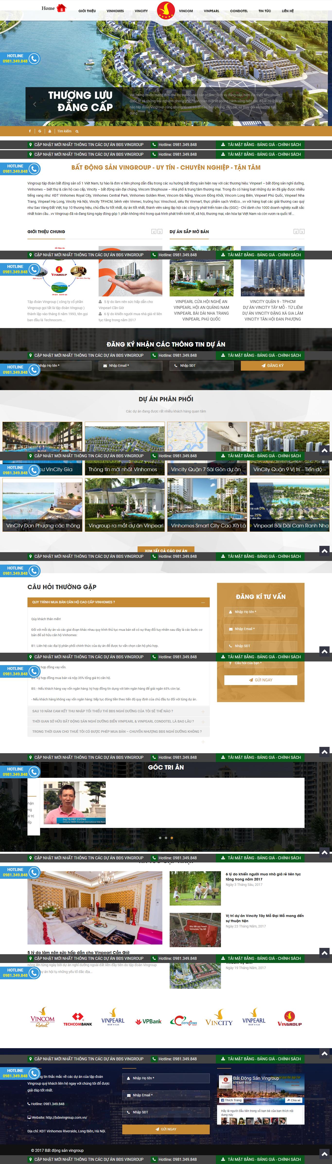 Giao diện website Bất động sản Z - 201