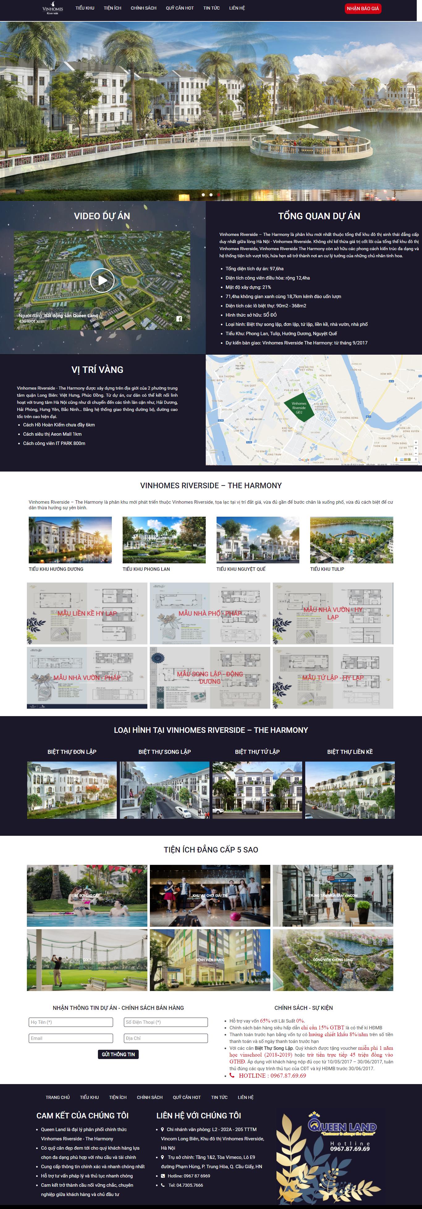 Giao diện website Bất động sản Z - 211