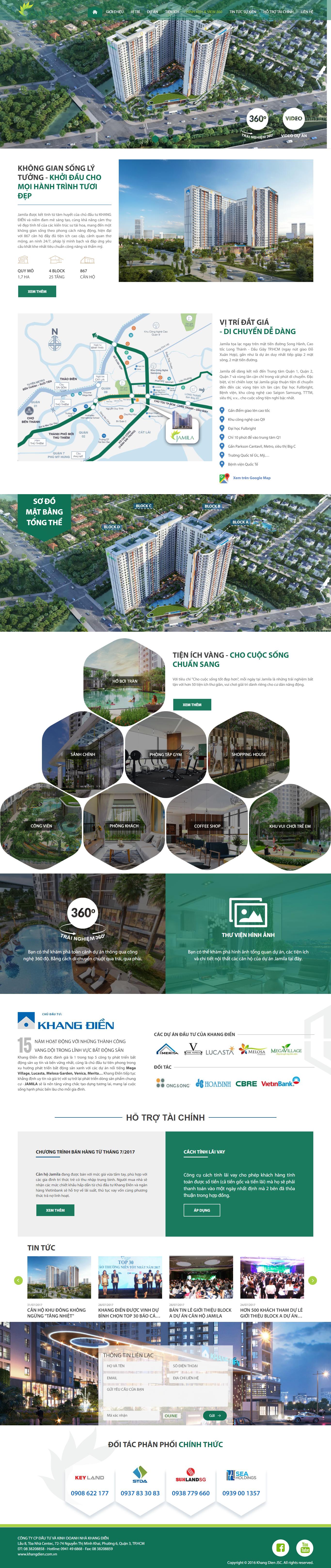 Giao diện website Bất động sản Z - 303