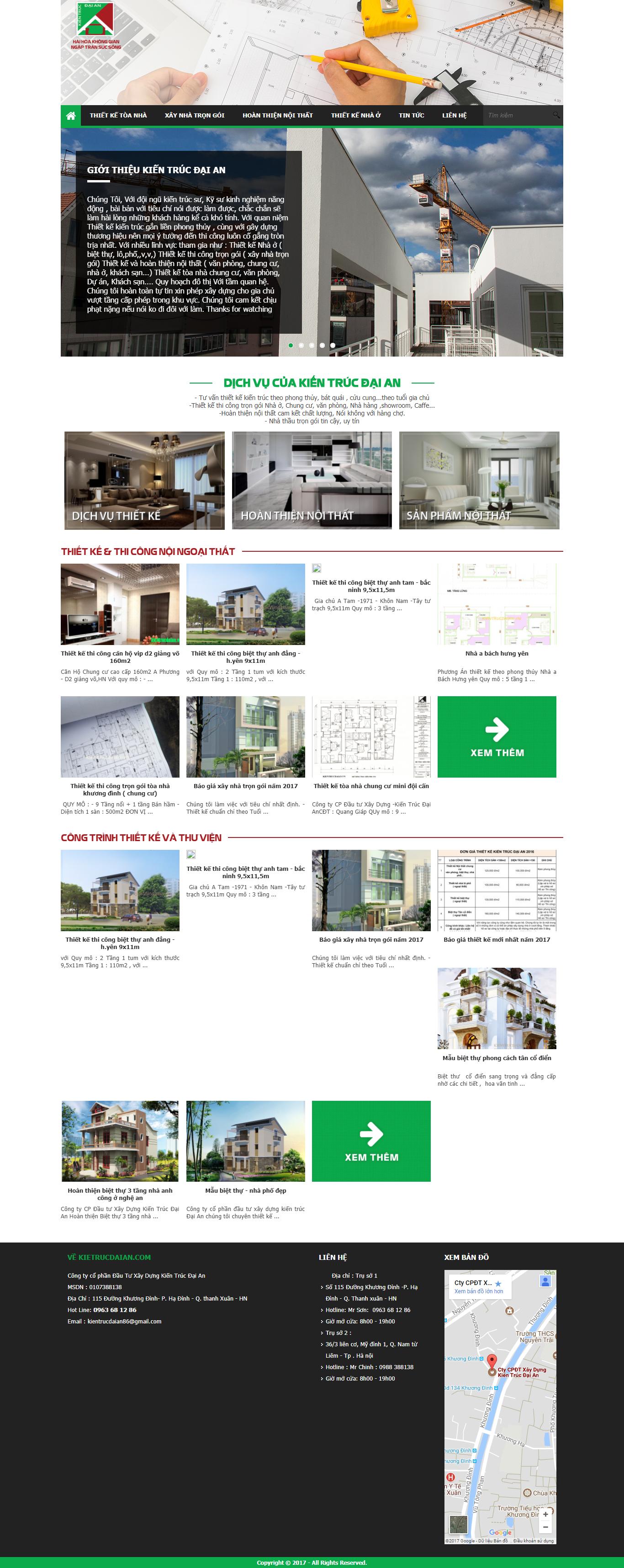 Giao diện website Bán hàng Z - 307