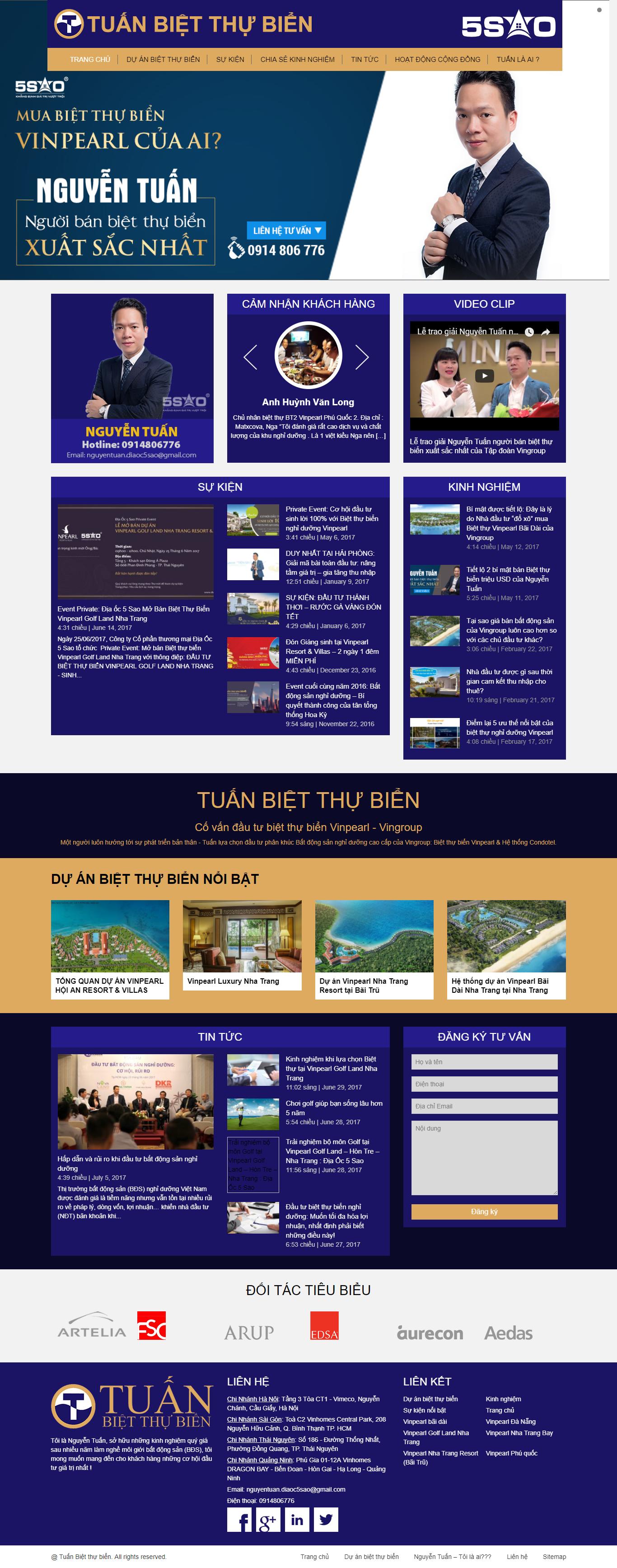 Giao diện website Bất động sản Z - 210