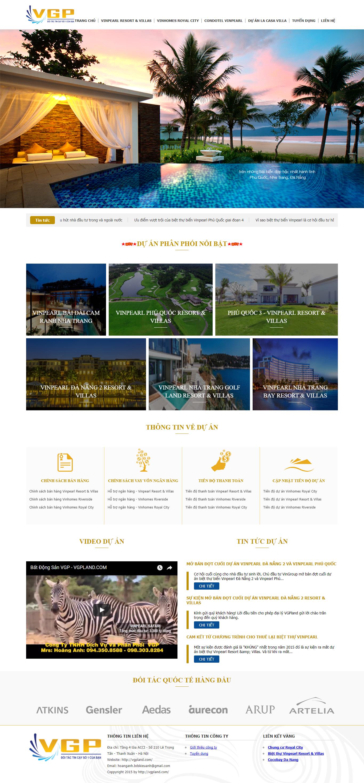 Giao diện website Bất động sản Z - 401
