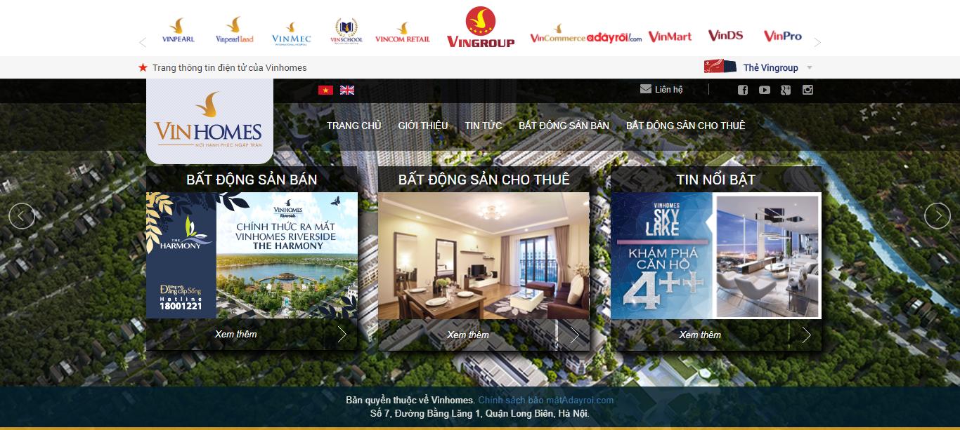 Giao diện website Bất động sản Z - 202