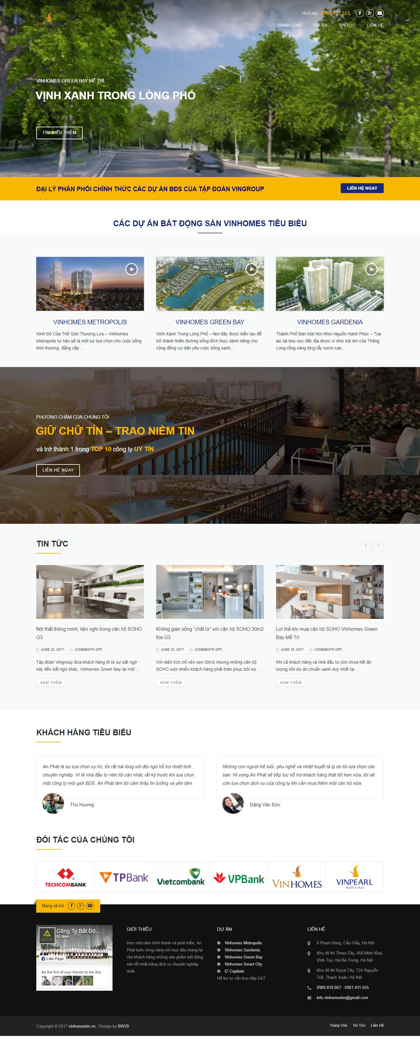 Giao diện website Bất động sản Z - 198