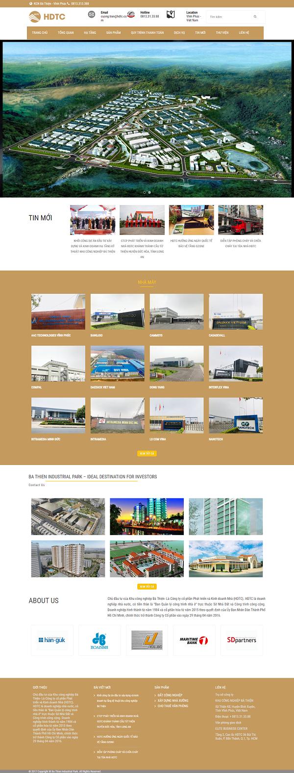 Giao diện website BĐS z497