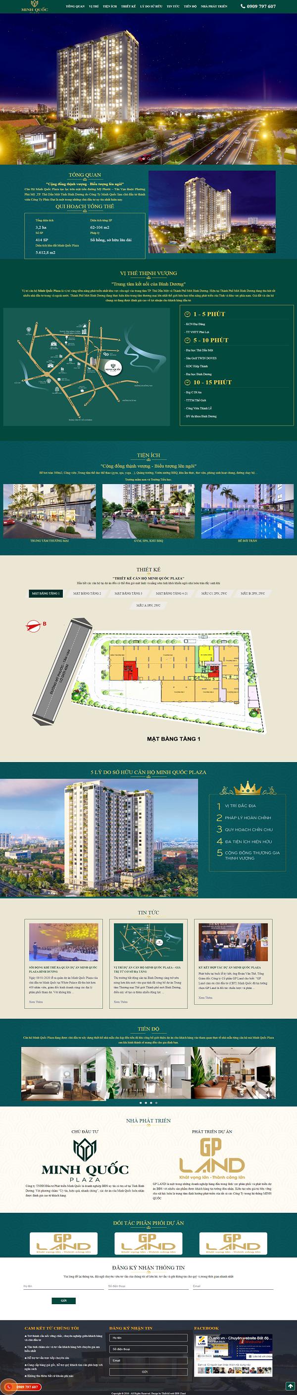 Giao diện website BĐS z499