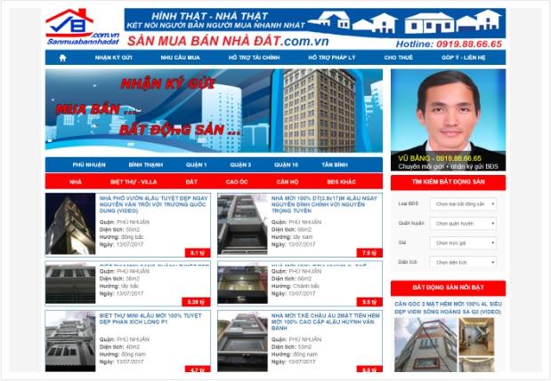 giao diện website bất động sản 221